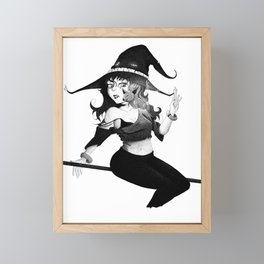 The Witch Pen and Ink Framed Mini Art Print