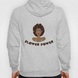 Digital illustration 70s style hippie girl flower power Hoody