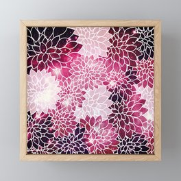 Space Dahlias Magenta Framed Mini Art Print