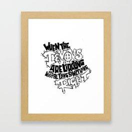 Demon Quote Framed Art Print