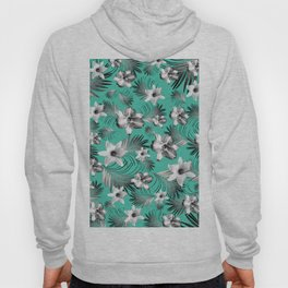 Tropical Flowers Palm Leaves Finesse #5 #tropical #decor #art #society6 Hoody