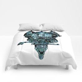 Aliens Illustration Tribute Comforters