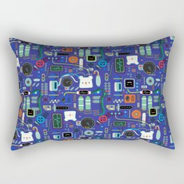 Bread Bear Machine ShanHaiJung - Blue Rectangular Pillow