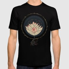 Lotus Black LARGE Mens Fitted Tee