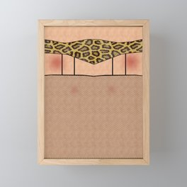 Fishnet Stockings and Leopard Skin Knickers Framed Mini Art Print