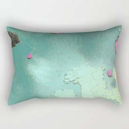 TRIPTYCH // COLORED FISH // PART TWO Rectangular Pillow