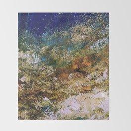 peninsula blue, monterey Throw Blanket