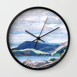 Franklin Carmichael - Lake and Hills - Canada, Canadian Watercolor Painting - Group of Seven Wall Clock