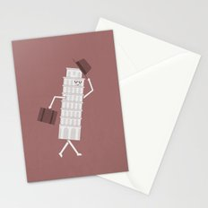The Leaving Tower Of Pisa Stationery Cards