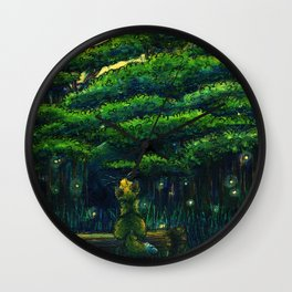 Forest at Night Wall Clock