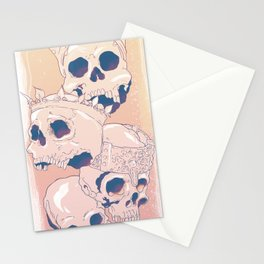 King Skulls Stationery Cards