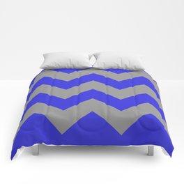 Chevron Navy Comforters