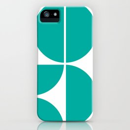 Mid Century Modern Turquoise Square iPhone Case