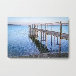 Old Dock on the Beach Metal Print