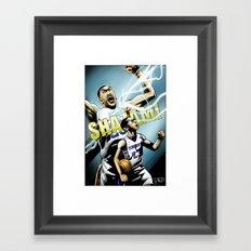 The Brow of SHAZAM! Framed Art Print