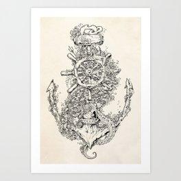 Into The Deep Art Print