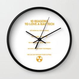 10 Reasons To Love A Rad Tech Funny Radio Technologist Wall Clock