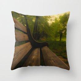 Park Bench Throw Pillow