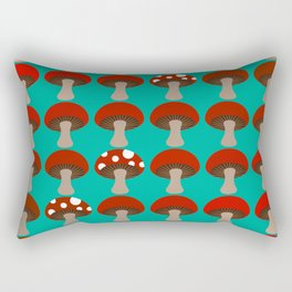Mushroom | Ombre | Peacock Green Rectangular Pillow
