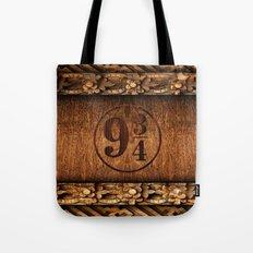 Platform 9 and 3 Quarters Wood Texture Tote Bag