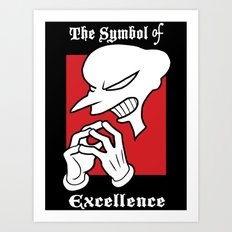 Symbol of Excellence Art Print