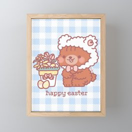 Ginger - Happy Easter Framed Mini Art Print