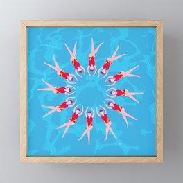 Synchronized Swimmers Framed Mini Art Print