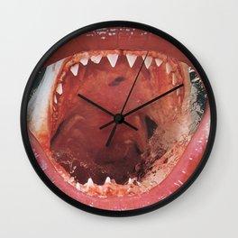 Shark Mouth Lips Wall Clock