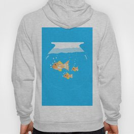 Three Goldfishes In a Water Bowl Hoody