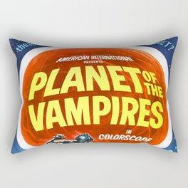 Planet of the Vampires, 1965 (Vintage Movie Poster) Rectangular Pillow