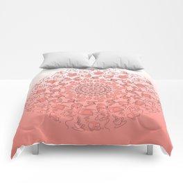 Living coral coffee mandala No1 Comforters