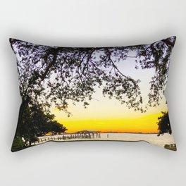 Summer Sunset Over the Bay Rectangular Pillow