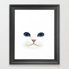 Cat face. Framed Art Print