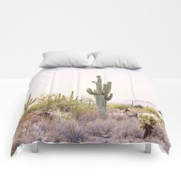 Cactus In The Desert Comforters