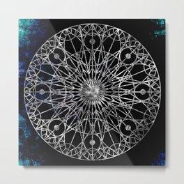 Rosette Window - Black Metal Print