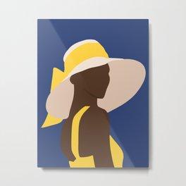 ebony in yellow portrait Metal Print