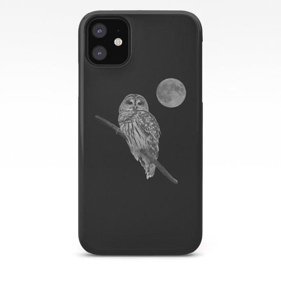 Owl, See the Moon (bw) by nancyacarter