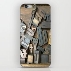 Vintage Wooden Letter Press Letters iPhone & iPod Skin