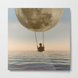 DREAM BIG/MOON CHILD SWING Metal Print