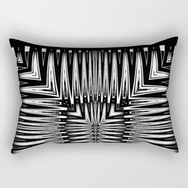 Geometric Black and White Traditional Tribal Pattern Rectangular Pillow