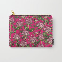 Red clover pattern Carry-All Pouch