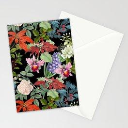 WINTER GARDEN - Black  Stationery Cards