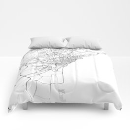 Minimal City Maps - Map Of Catania, Italy. Comforters