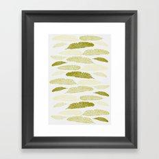 Feathers - Sage Framed Art Print