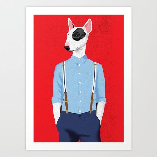 Skinhead Bull Terrier Art Print