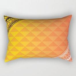 Polynesian Print Rectangular Pillow
