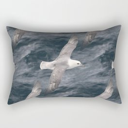 Seagull flying over Arctic Ocean Rectangular Pillow