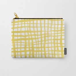 Watercolor doodle gingham - yellow Carry-All Pouch