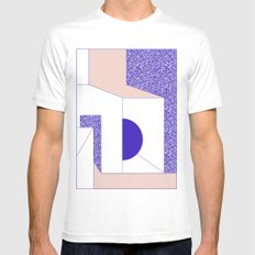 Violet White MEDIUM Mens Fitted Tee