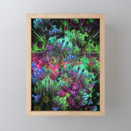 Alien Dragonfly Orchid Colony Framed Mini Art Print